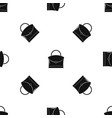 little woman bag pattern seamless black vector image vector image