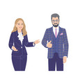 male and female characters flat vector image vector image
