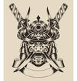 mask warrior with swords vector image