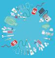 medical equipment flat web vector image