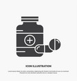 medicine pill capsule drugs tablet icon glyph vector image