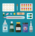 medicine products cure set vector image vector image