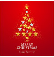 merry christmas and happy new year card with star vector image