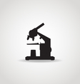 Microscope Black Icon vector image vector image