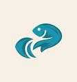 ocean fish business logo design vector image vector image