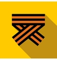 Orange and black striped ribbon symbol icon vector image