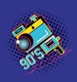 photographic camera of nineties retro vector image vector image