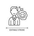 positive attitude linear icon