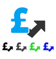 pound growth flat icon vector image vector image