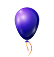 Realistic blue balloon with ribbon isolated on vector image