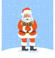 Santa Claus singing Christmas carols vector image vector image