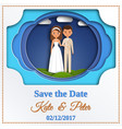 Save date card paper cut style