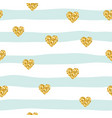 seamless pattern with glitter confetti hearts vector image