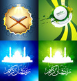set of attractive background of ramadan kareem vector image vector image