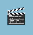 simple clapper board icon in flat style vector image