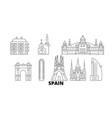 spain barcelona line travel skyline set spain vector image vector image