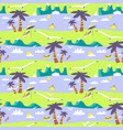 summer beach seamless pattern idyllic sea vector image vector image