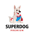 super dog thump up mascot character logo icon vector image vector image
