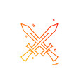 swords icon design vector image