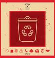 trash can recycle bin symbol icon vector image
