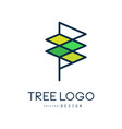 tree logo templete original design abstract vector image vector image