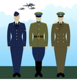 Uniforms Russian military pilots vector image vector image