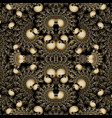 vintage gold 3d paisley seamless pattern vector image vector image