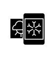 weather mobile smartphone icon vector image