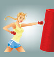 Woman Boxing vector image vector image