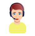 woman call center manager icon cartoon style vector image vector image