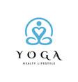 yoga love logo icon vector image