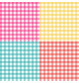 picnic table cloth seamless pattern set picnic vector image