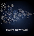 2018 happy new year background with silver letters vector image vector image