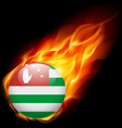 A badge in colours of abkhazia flag vector image vector image
