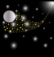 Abstract bright falling star vector image