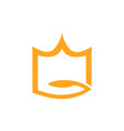 abstract crown logo on white vector image vector image