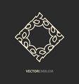 abstract rhomb emblem vector image vector image
