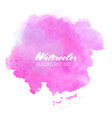 abstract watercolor blob on white background vector image
