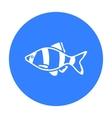 Barbus fish icon black Singe aquarium fish icon vector image vector image