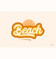 beach orange color word text logo icon vector image