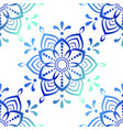 beautiful blue mandala stock vector image vector image