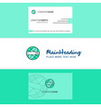 beautiful internet search logo and business card vector image vector image