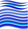 Blue abstract water symbol element design set vector image