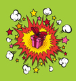Boom presents surprise vector image vector image