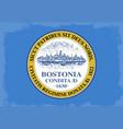 boston city flag vector image vector image