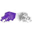 box build abstract vector image vector image