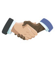 business handshake affiliate handshake shaking vector image