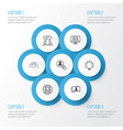 business icons set collection global work vector image vector image
