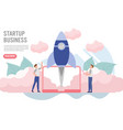 business startup concept with charactercreative vector image
