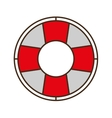 cartoon life buoy safety travel vector image
